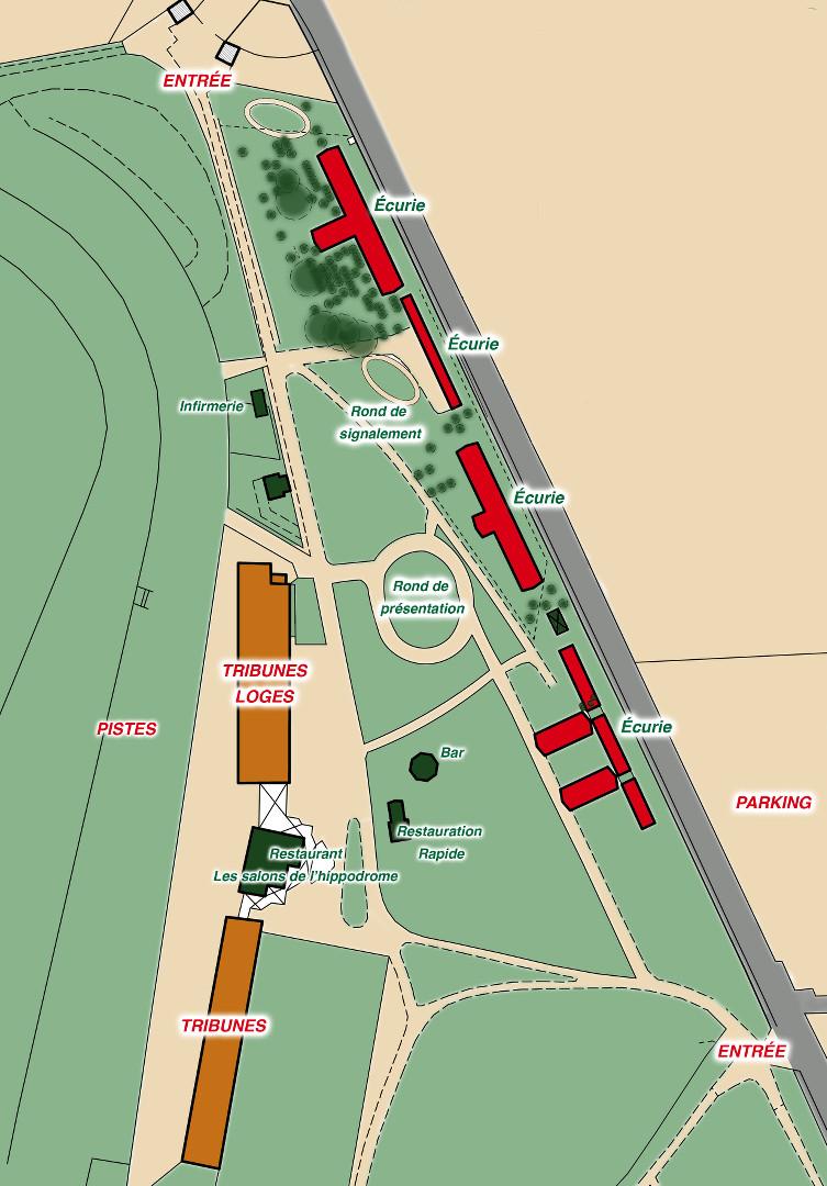 Plan de l'Hippodrome